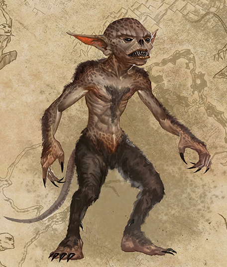 Scamp Small Goblin Like Creatures These Agile Faeries Are Found In Caves And European Mountains Wh Shadow Monster Mythological Creatures Mythical Creatures