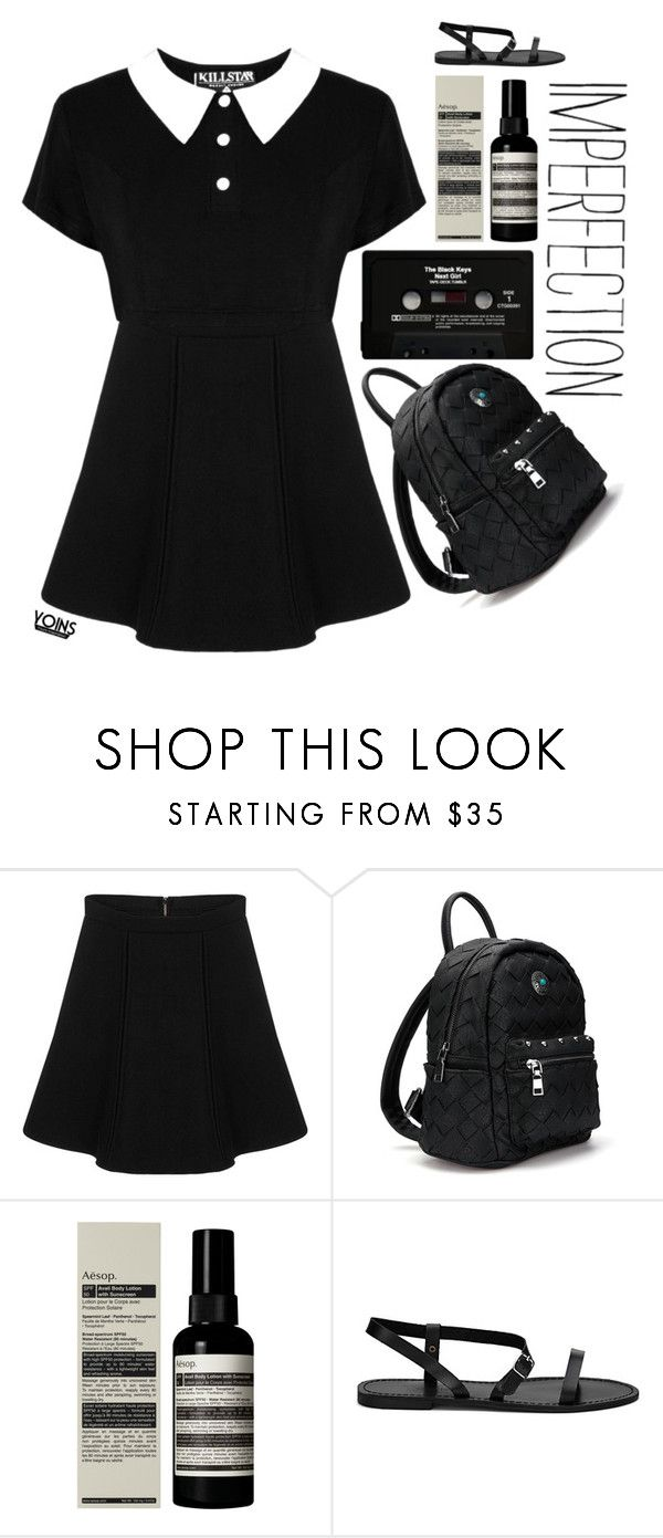 """""""#Yoins"""" by credentovideos ❤ liked on Polyvore featuring Killstar, CASSETTE, Aesop, yoins, yoinscollection and loveyoins"""