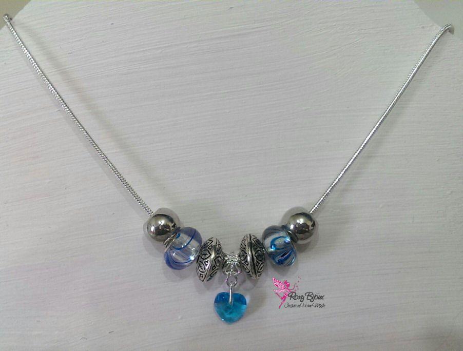 Collana toni azzurri, by Roxy Bijoux, 5,50 € su misshobby.com