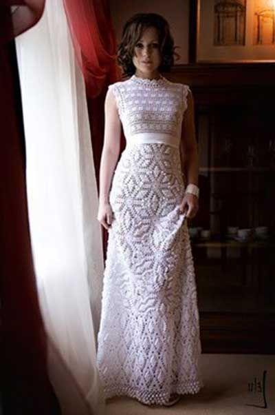 Graph Step by Step - Wedding Dress crochet yarn See! | Crochet ...