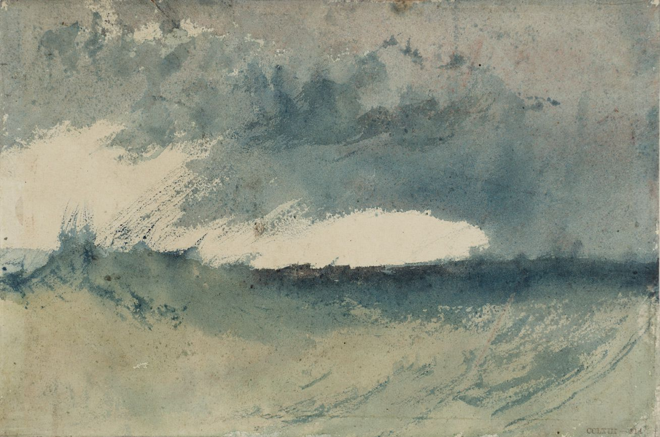 Study Of Sea Turner Pem William Turner Turner Watercolors