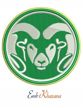 Colorado State Rams Football Logo Embroidery Design Football Logo Embroidery Logo Rams Football