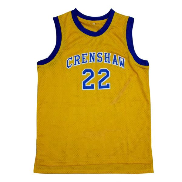 bf6eb7ab5baf Quincy McCall 22 Crenshaw High School Yellow Basketball Jersey Love and Basketball  jersey.  29.88 on Amazon