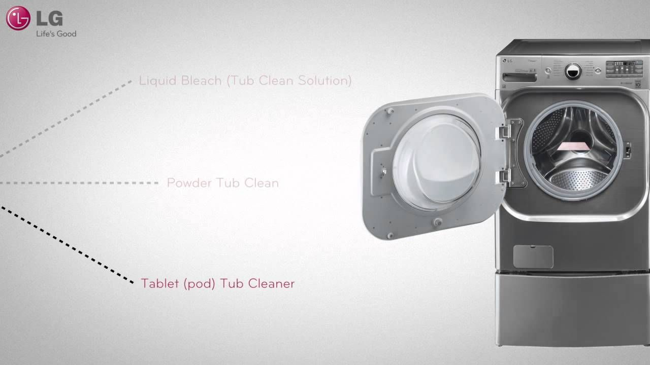 Lg Washer Tub Cleaning And Maintenance You