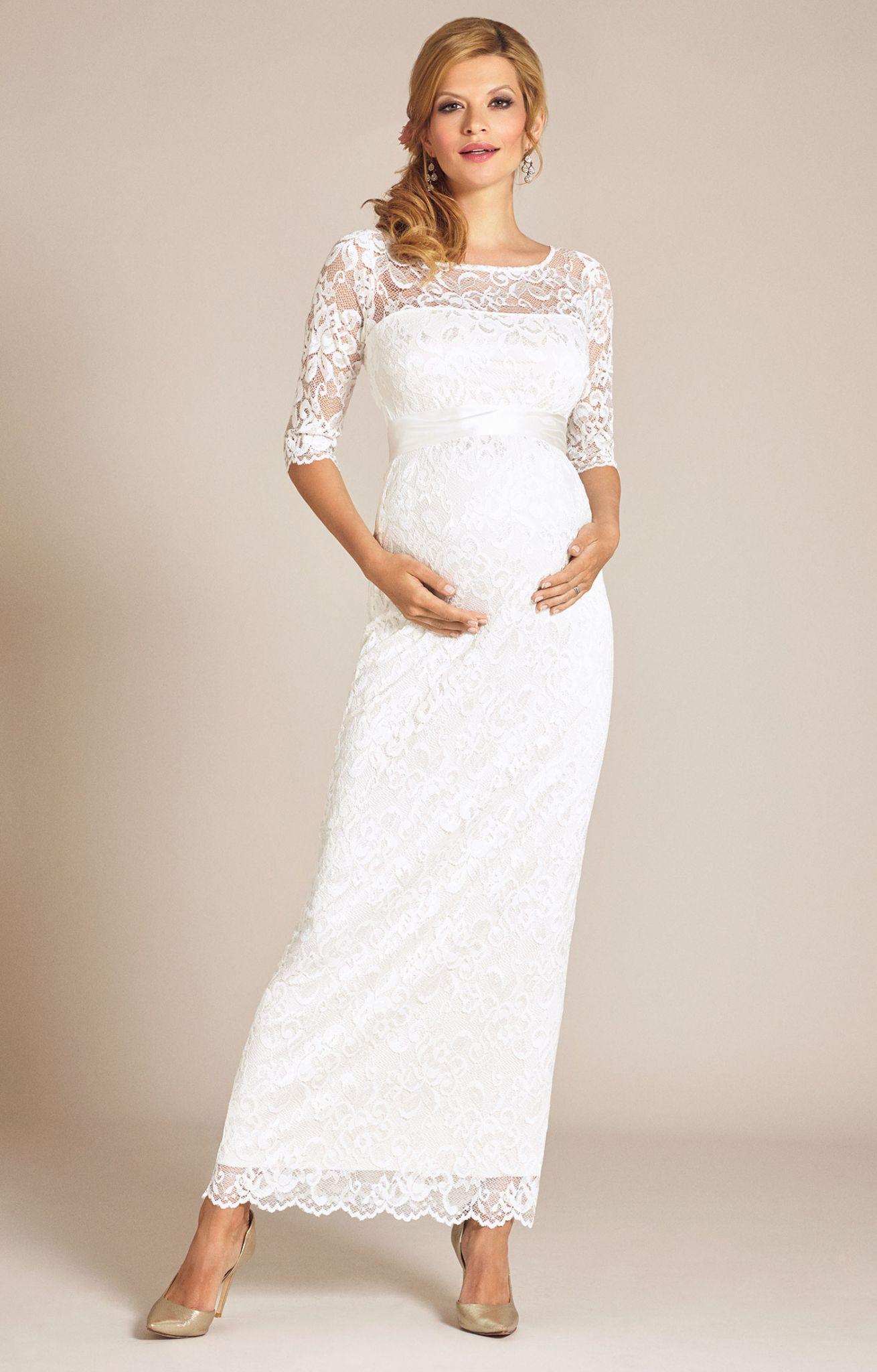 White maternity wedding dress  Beautiful Lace Maternity Wedding Dress Check more at svesty