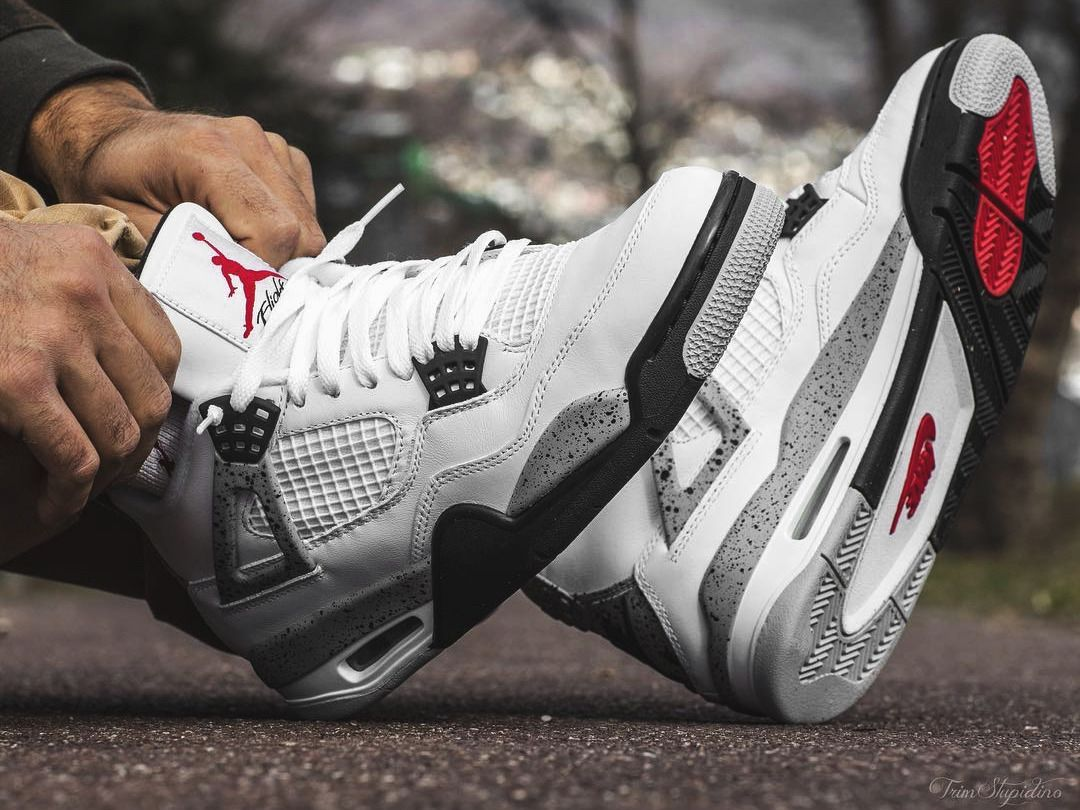 5a9c99ff1907 Nike Air Jordan 4 - White Cement - 2016 by trimstupidino  viaGlamour ...