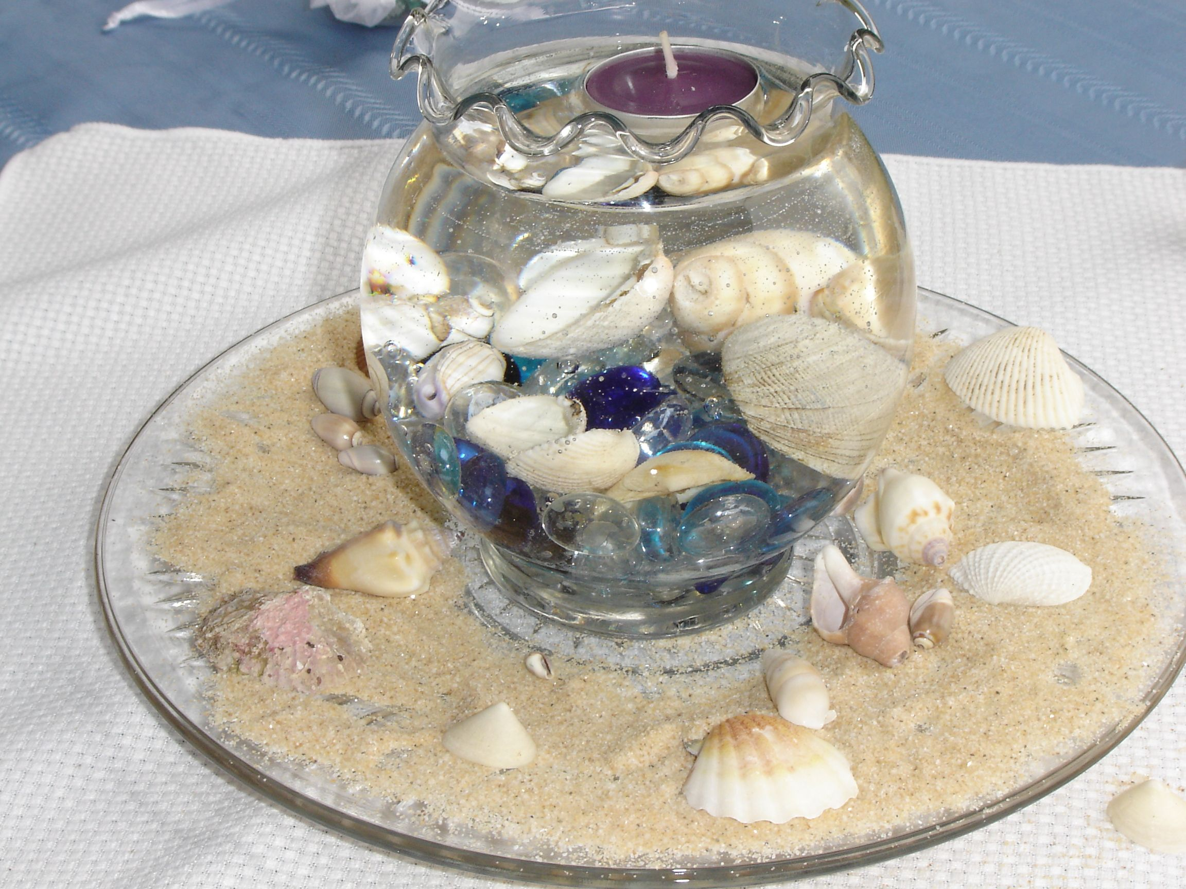 Beach Theme Centerpiece Pinterest Centerpieces Fishbowl And