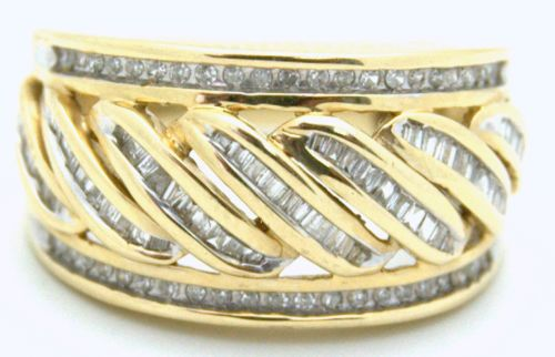 1ct Genuine Diamond Ring Yellow Gold 14k Wide Band Appraisal