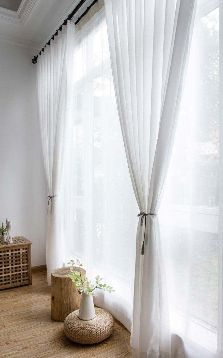 Moderne Gardinen Wei   aus Chiffon f  r Wohnzimmer Transparent #housedecor #decorstyles #decoratingstyles #homedecorstyles #homedecor