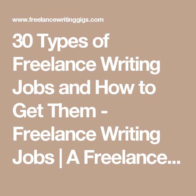 types of lance writing jobs and how to get them lance 30 types of lance writing jobs and how to get them lance writing jobs