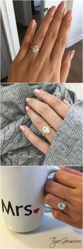 2,25 ctw Ovaler Halo-Ring, Verlobungsring im Vintage-Stil, künstlicher Diamant-Simulan …