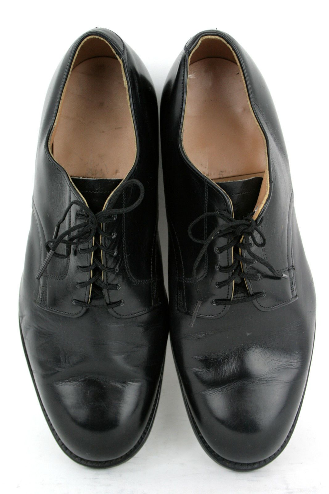 fbfff02d97f D.J. Leavenworth Dated 1962 Black Leather Military Uniform Oxfords ...