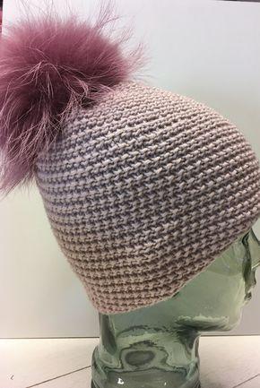 Mütze aus Lang Yarns Meriono+ Muster: immer nur 2 Maschen rechts und ...