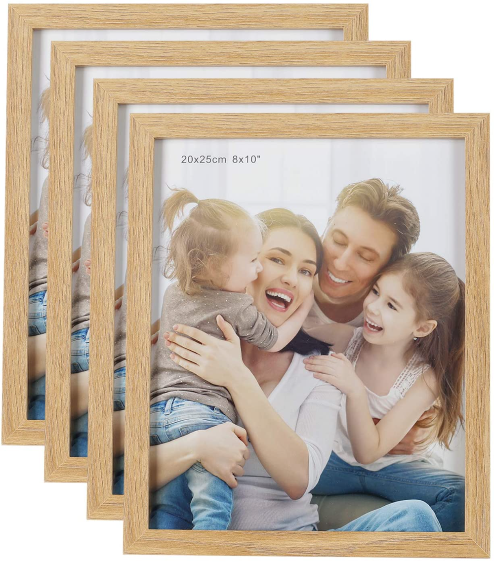 Helaaccueil 10x8 20x25cm Wood Photo Frames Set Of 4 Vintage Wooden Rustic Picture Frame Set With High In 2020 Wood Photo Frame Rustic Pictures Picture Frame Sets