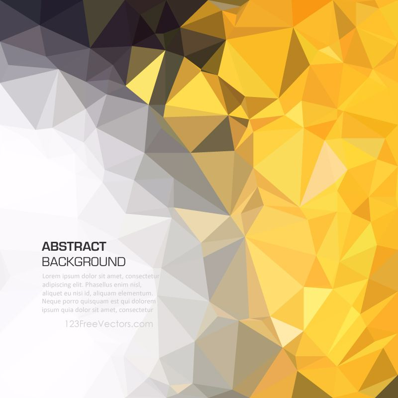Yellow Black Polygonal Triangular Background Template Background