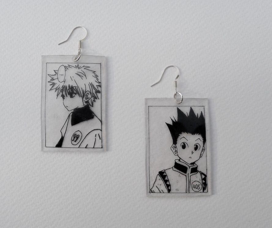 Hunter X Hunter Gon And Killua Earrings In 2020 Anime Jewelry Diy Jewelry Inspiration Otaku Gift