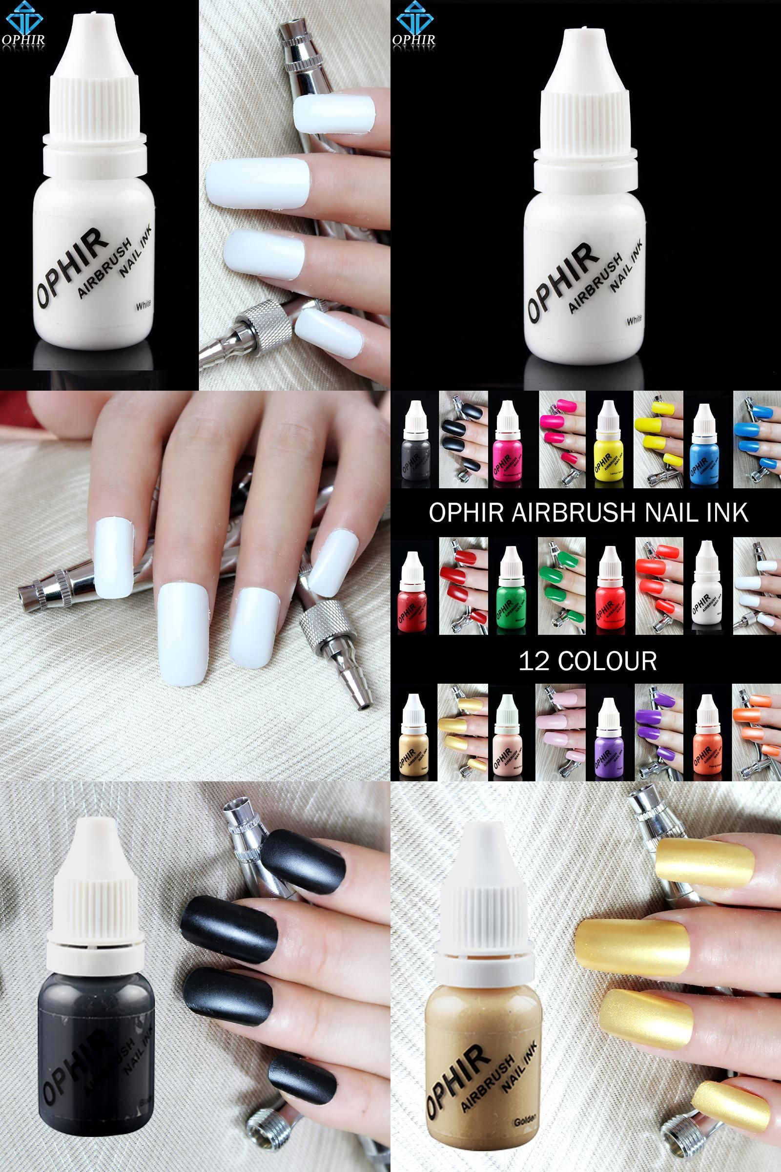 24 Luxury Nail Art Supplies Ophir White Acrylic Paint Airbrush