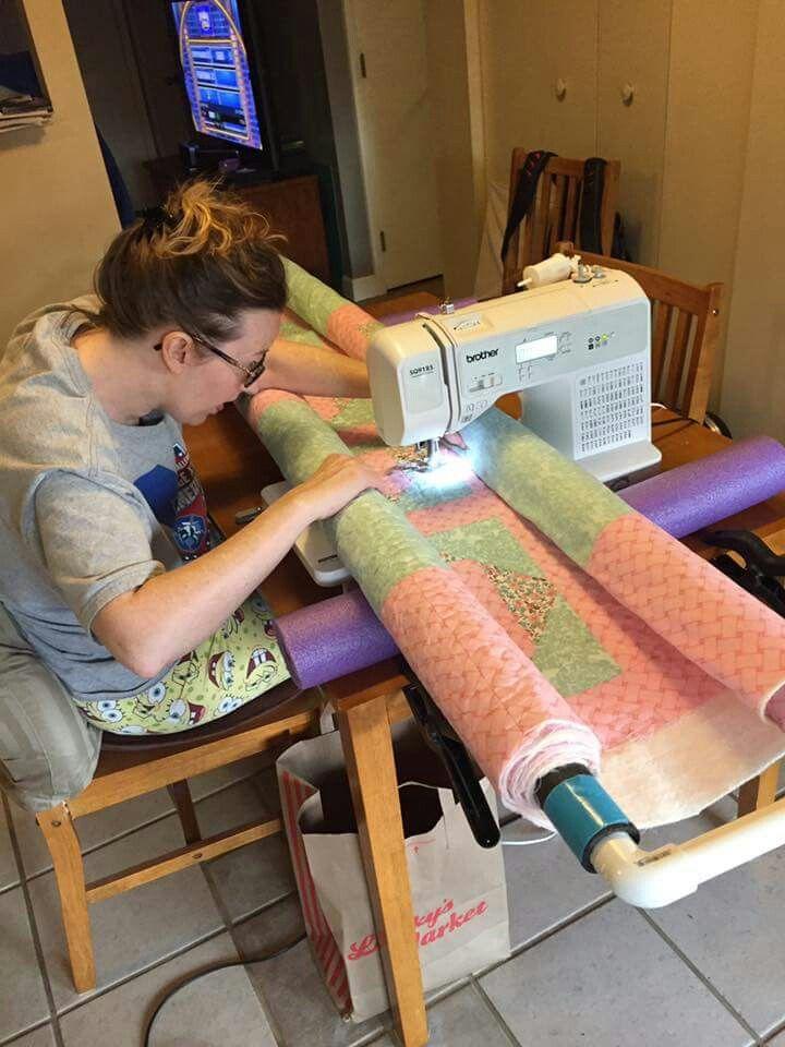 homemade quilt frame for domestics - Diy Quilting Frame