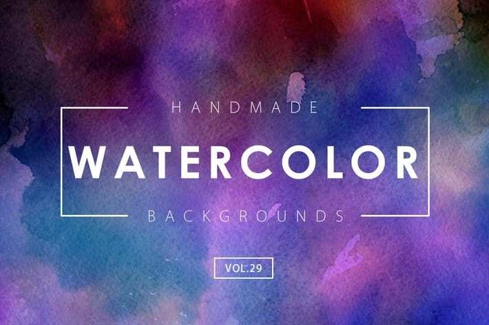 Handmade Watercolor Backgrounds Vol 29 By M E F On Watercolor