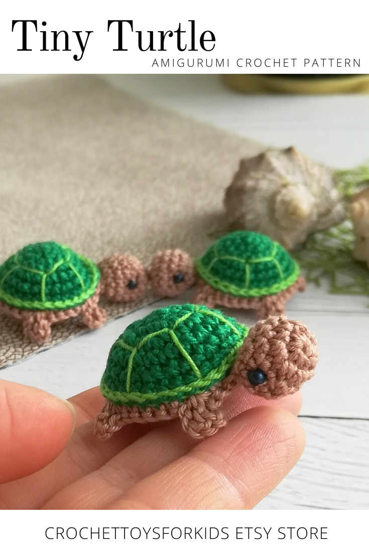 Crochet Pattern Tiny turtle