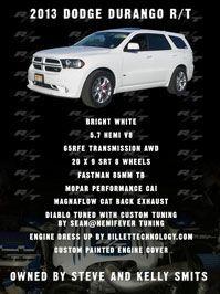 Awesome Dodge Dodge Durango RT Car Show Board MOPAR - Durango car show
