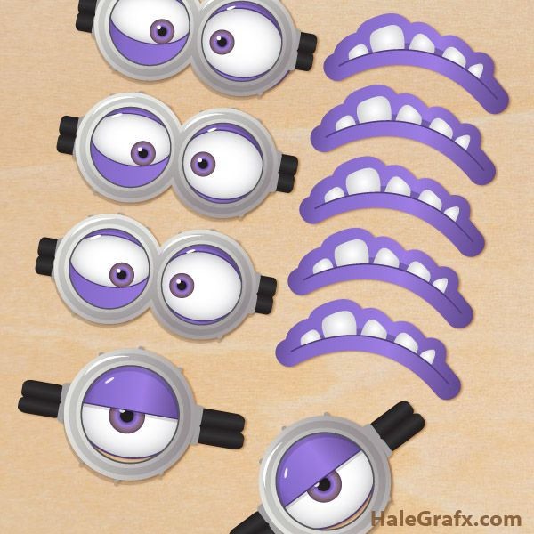 picture about Printable Minion Face named Free of charge Printable Despicable Me 2 Evil Minion Goggles and
