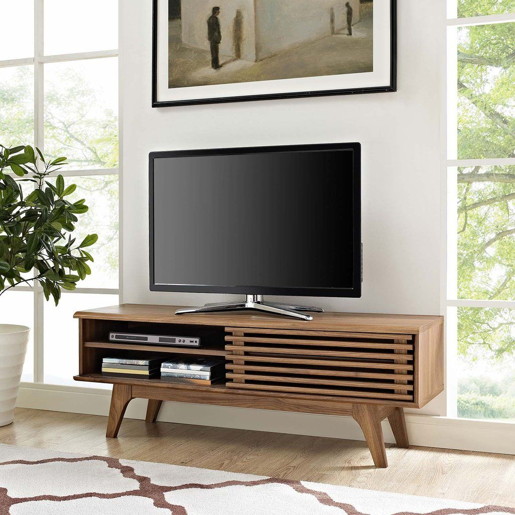Modway Render 48 Tv Stand In 2020 Cool Tv Stands Tv Stand Cabinet Modern Tv Stand