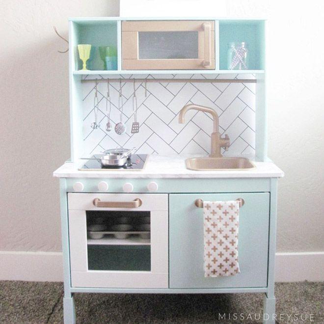 Charming 13 Fun Ways To Transform The IKEA Play Kitchen | Mumu0027s Grapevine