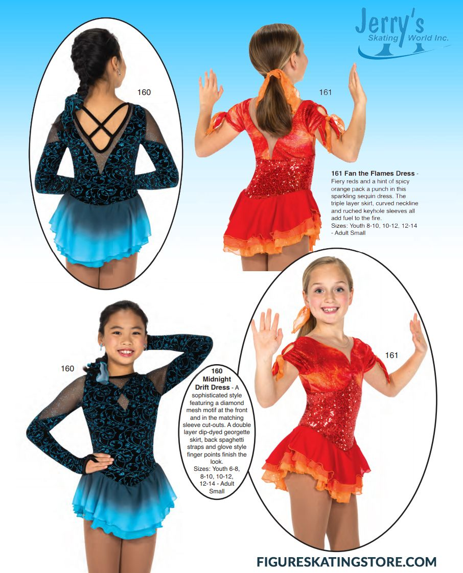 Jerrys Ice Skating Dress 160 Midnight Drift Dress