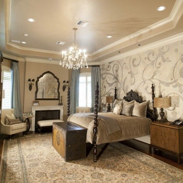 21 Master Bedroom Interior Designs Decorating Ideas: Classic Master Bedroom Designs With Wall Murals