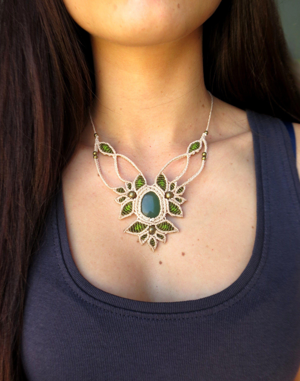 qualité supérieure lisse vente officielle Fairy goddess necklace, woman macrame jewelry, chic wedding ...