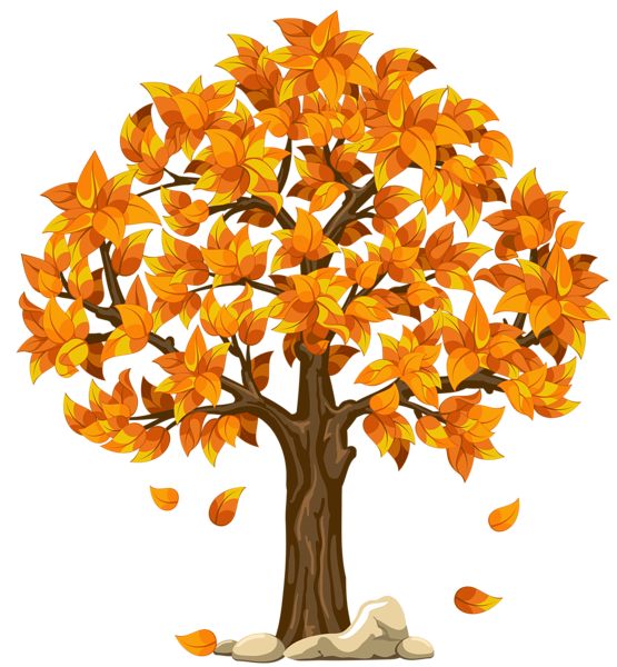 transparent fall orange png clipart picture planner happiness rh pinterest com fall tree clipart free fall tree clipart black and white