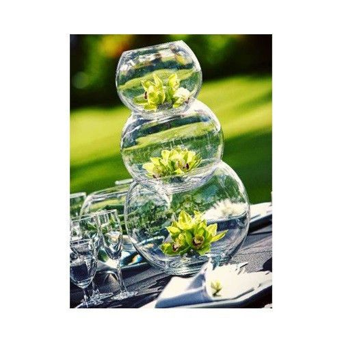 Bubble Bowl Glass Vases 4pcs 8 Body Diameter Glass Fish Bowl