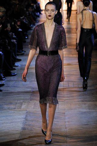 Fall 2012 RTW, Designer: Yves Saint Laurent, Model: Magda Laguinge