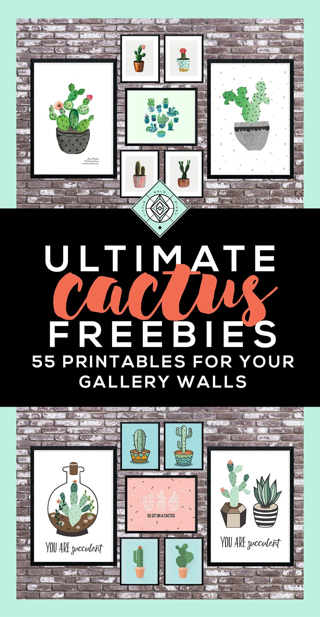 Cactus art roundup awesome free printables free printables