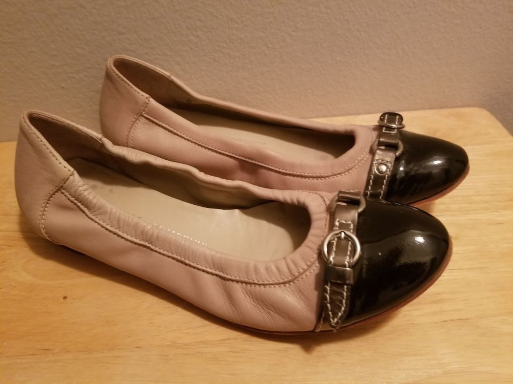8a4444bb3 Attilio Giusti Leombruni AGL Beige Black Cap Toe Ballet Flats Shoes Size 7  $315 #fashion #clothing #shoes #accessories #womensshoes #flats