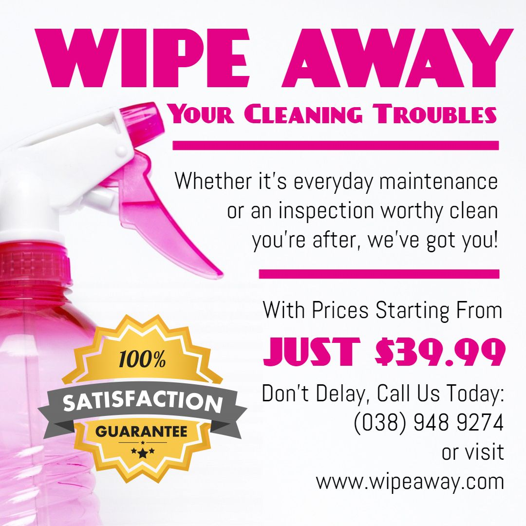 home cleaning online ad sample