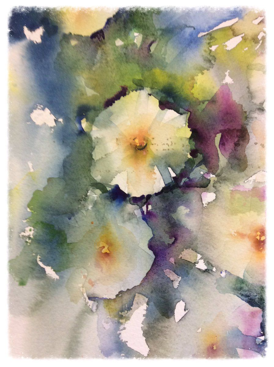 Jean Haines On Watercolor Negative Painting Flower Painting