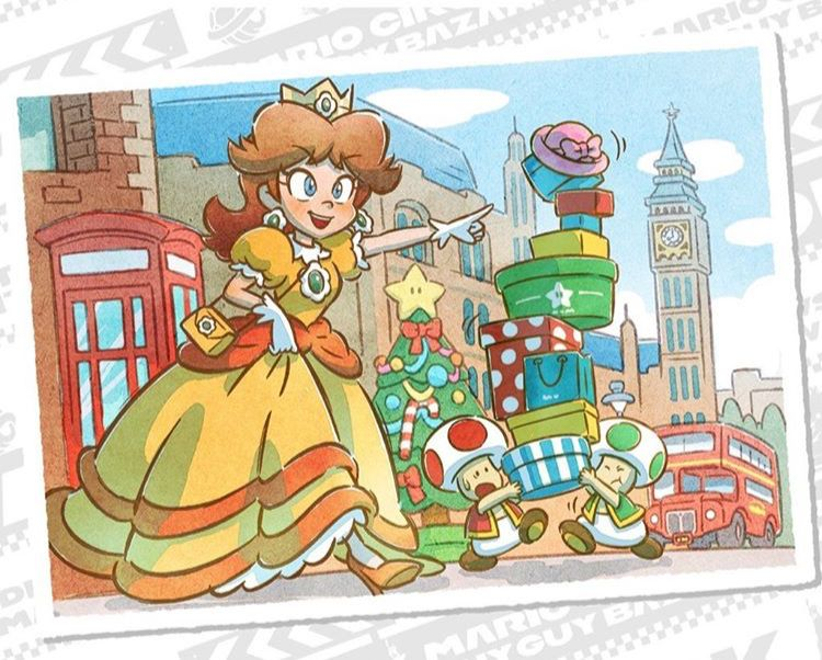 Daisy In London Mario Kart Tour London Tour Super Mario Bros