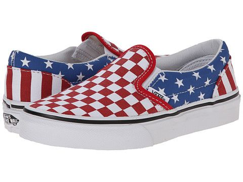 0aaacedb32 Vans Kids Classic Slip-On (Little Kid Big Kid) (Stars   Stripes) True Red Classic  Blue - Zappos.com Free Shipping BOTH Ways