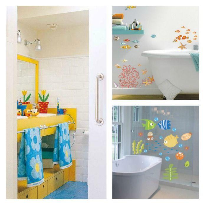 Cómo decorar el baño de los niños | Pinterest | La niña, Baño y Baños