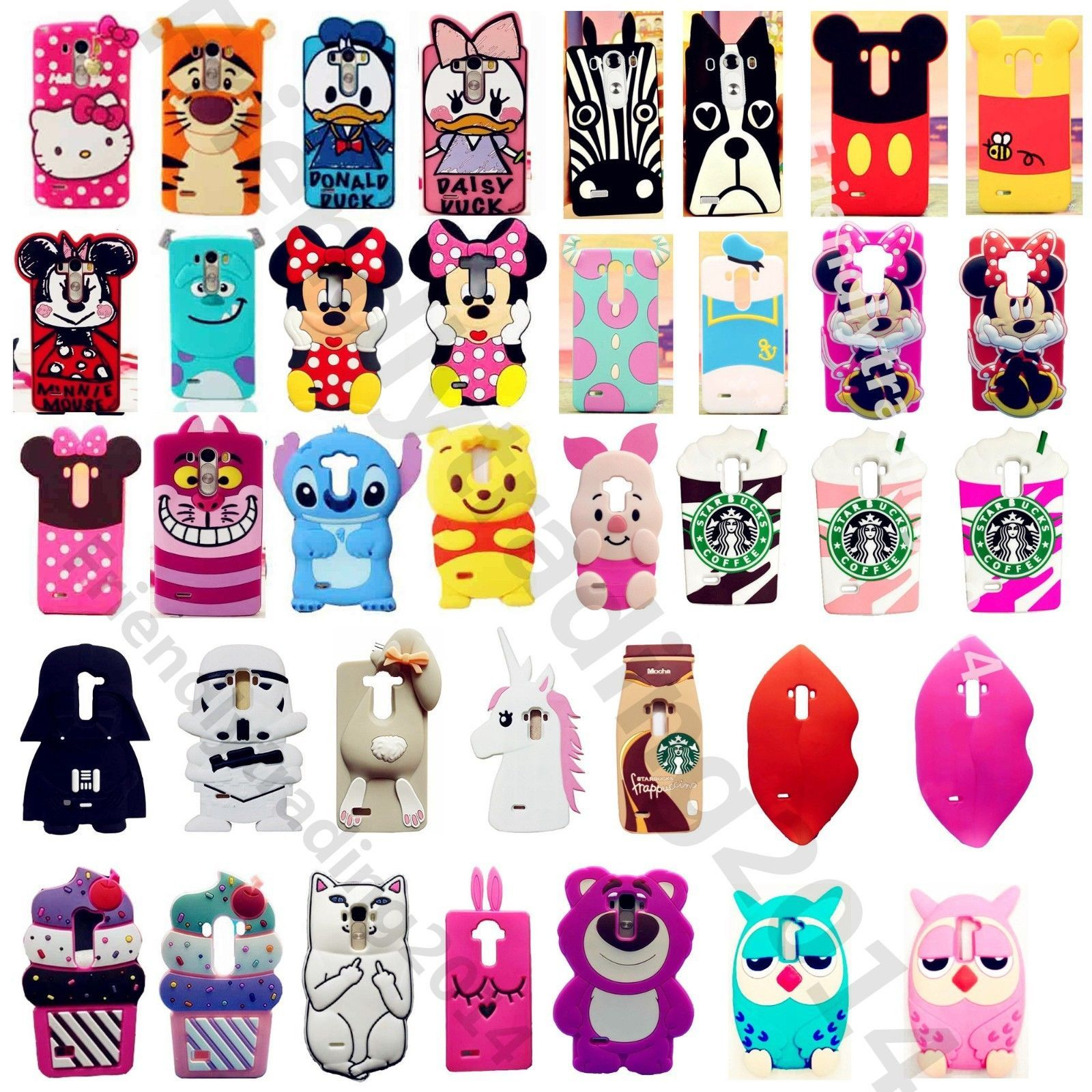 new styles dc62d 5c1ad 3D Cartoon Soft Silicone Case Cover For Lg G2/G2 Mini/Ll80/90/70 ...