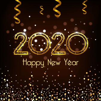 Happy New Year 2020 Vector Design Happy New Year 2020 Happy New Year Everyone Happy New