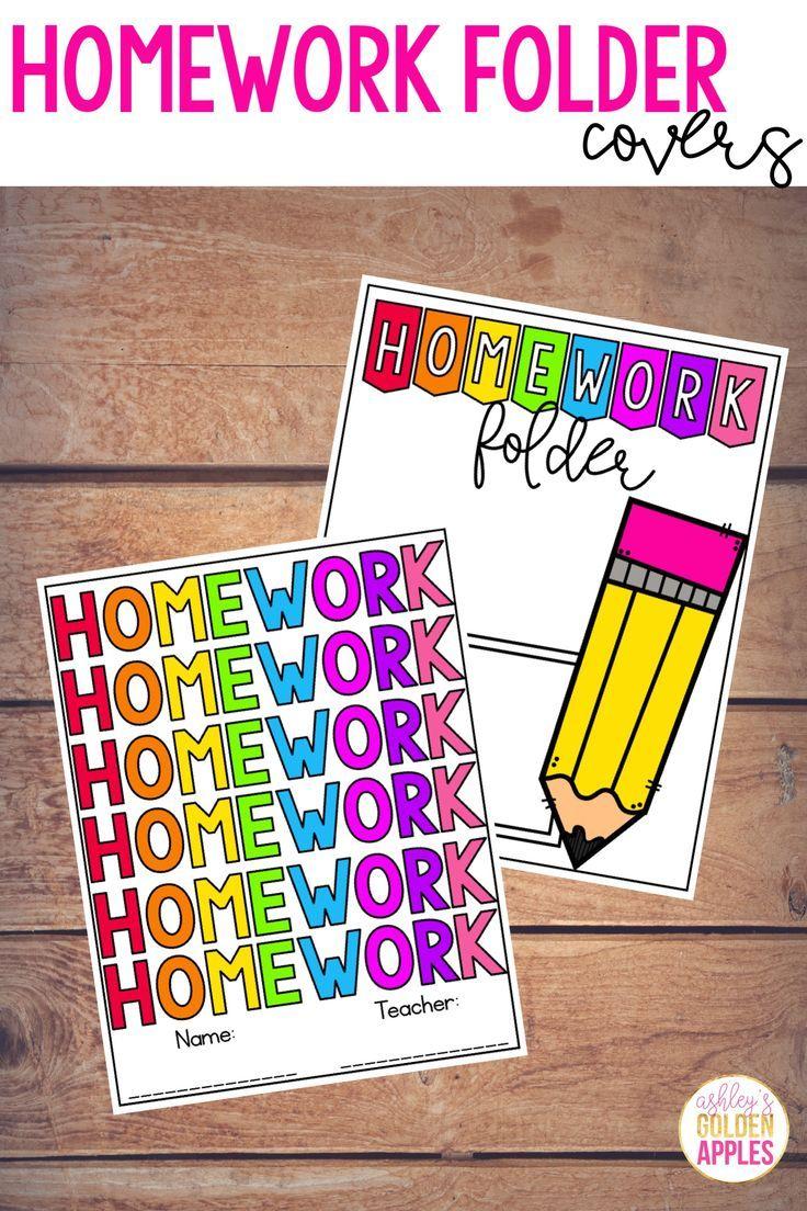 Homework folder covers homework folder labels student