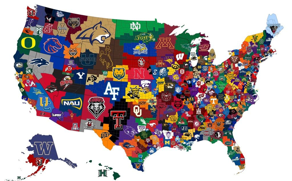 Closest Ncaa D1 Men S Basketball Program To Each Us County