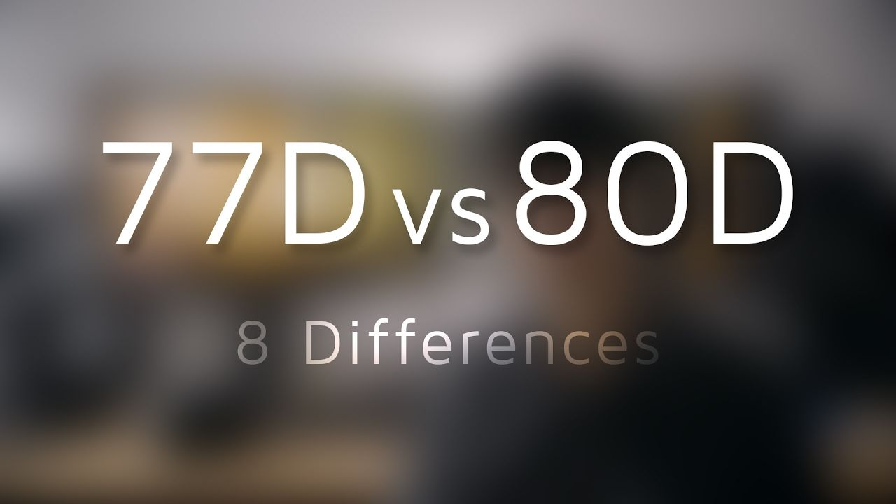 Canon EOS 77D Preview vs 80D - 8 Differences   CAMERAS AND