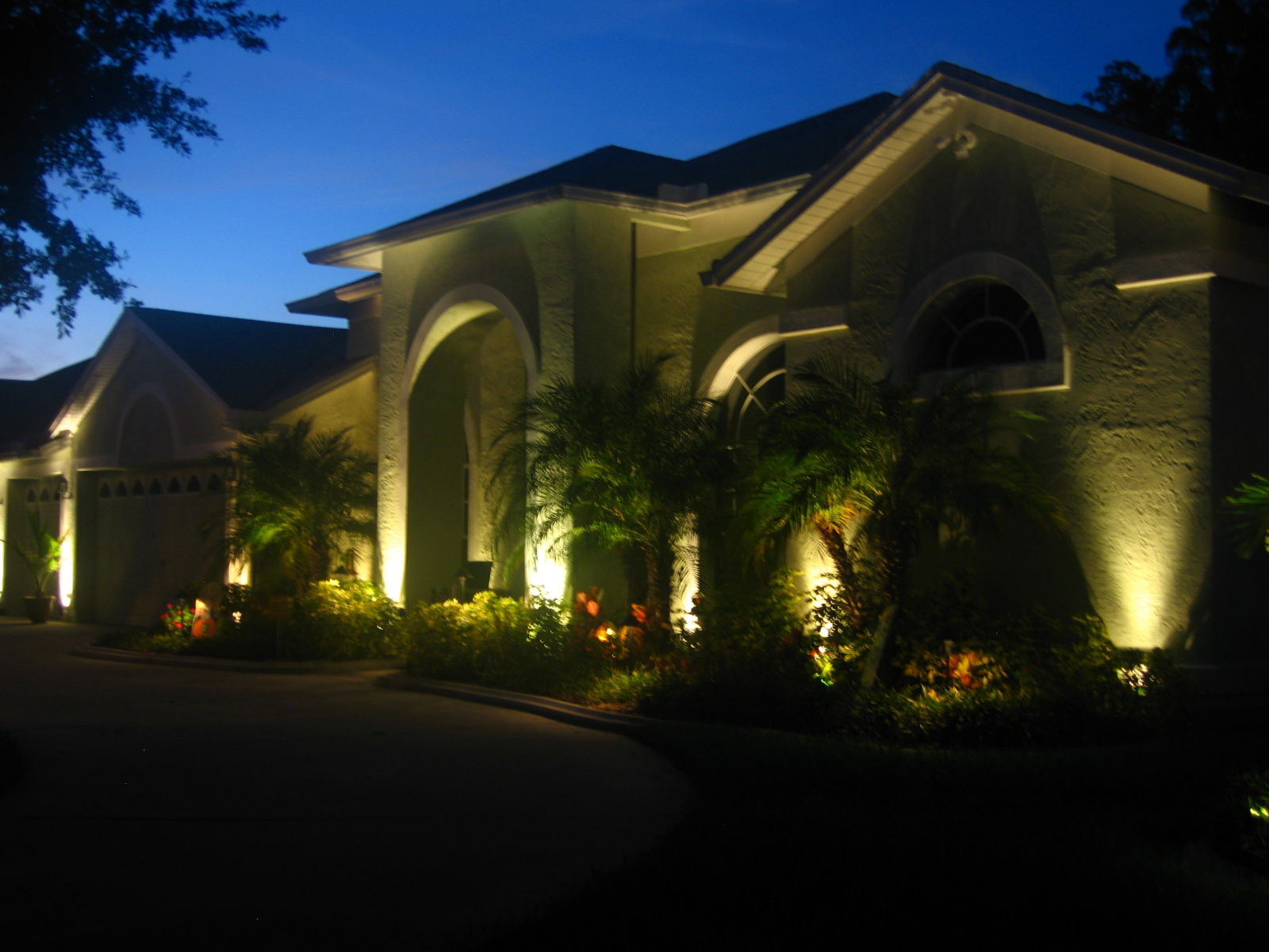Residential decorative outdoor lighting services KBHomes