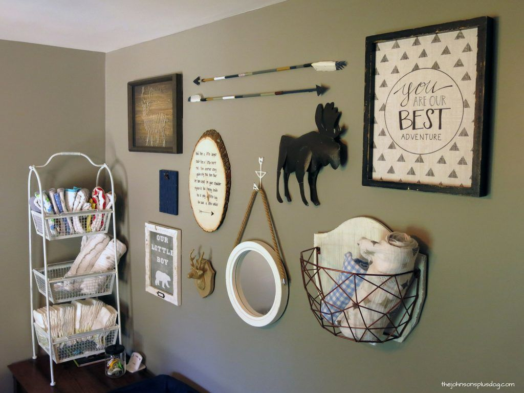 diy arrow decor for baby boy rustic woodland nursery gallery wall idea for woodland nursery. Black Bedroom Furniture Sets. Home Design Ideas