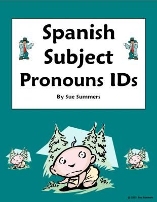 Spanish subject pronoun picture ids worksheet from sue summers on spanish subject pronoun picture ids worksheet from sue summers on teachersnotebook 2 voltagebd Gallery
