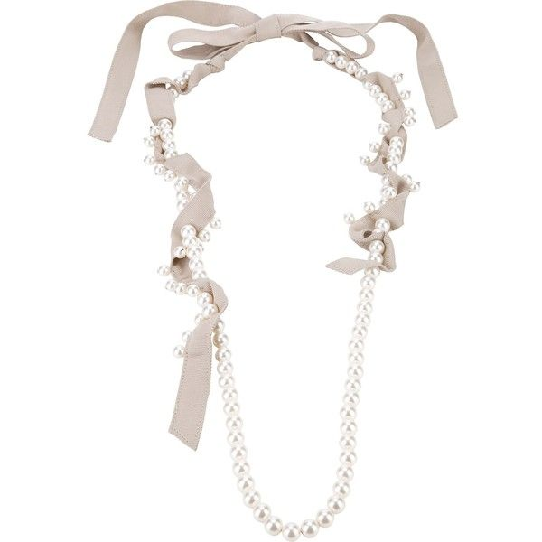 Lanvin Pearl Necklace: LANVIN Pearl Bead Necklace ($890) Liked On Polyvore